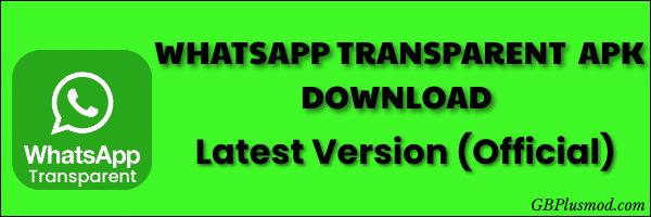 Download WhatsApp transparent